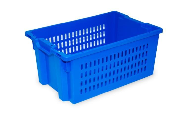 Caixas de plástico empilháveis e encaixáveis - sem abertura nas pegas, 50L (fechada e/ou gradeada)