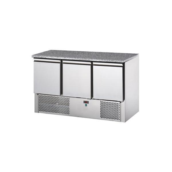 saladettes réfrigérées 3 portes avec dessus granit - Référence SALA3SYGR