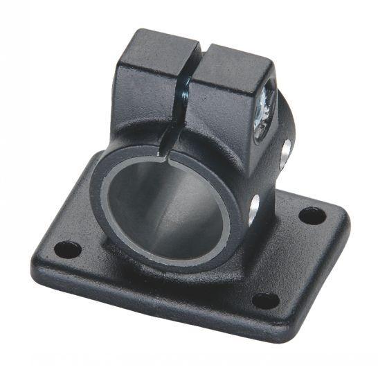 Connecteur de tube à embase - aluminium, pour unité linéaire