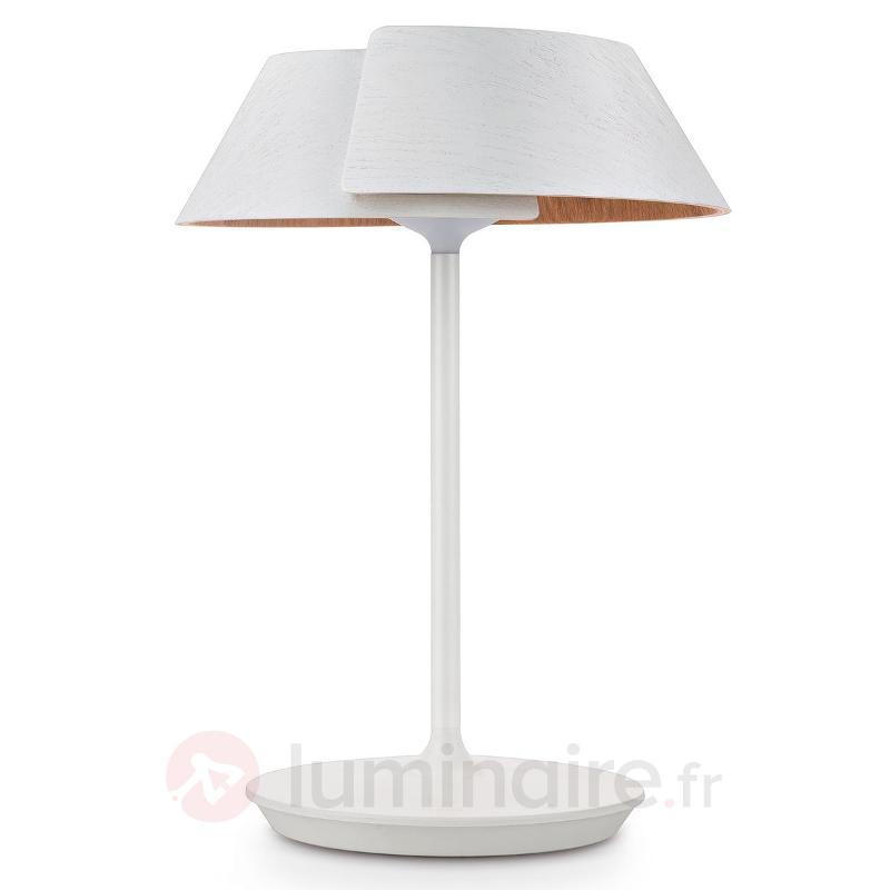 Lampe à poser LED à intensité variable Nonagon - Lampes à poser en bois