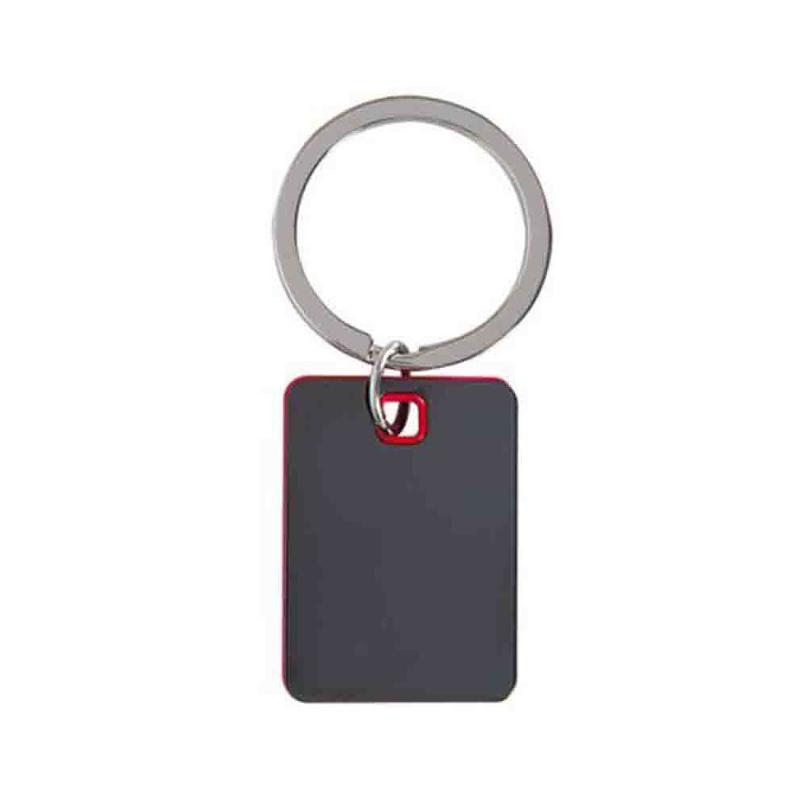 Porte-clés métal anthracite verni - Porte-clés métal