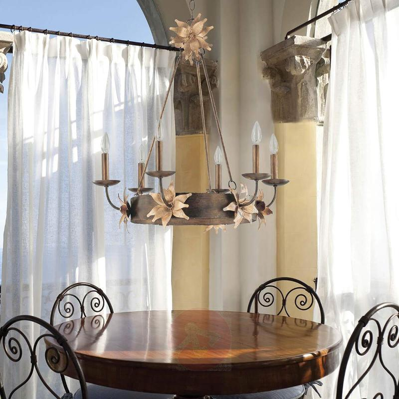 Simone Chandelier with Flowers Extraordinary - Chandeliers
