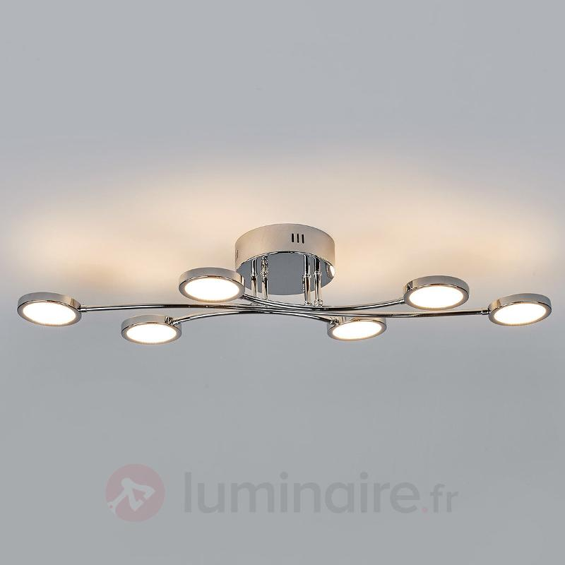 Plafonnier LED Betika, à 6 lampes - Plafonniers LED