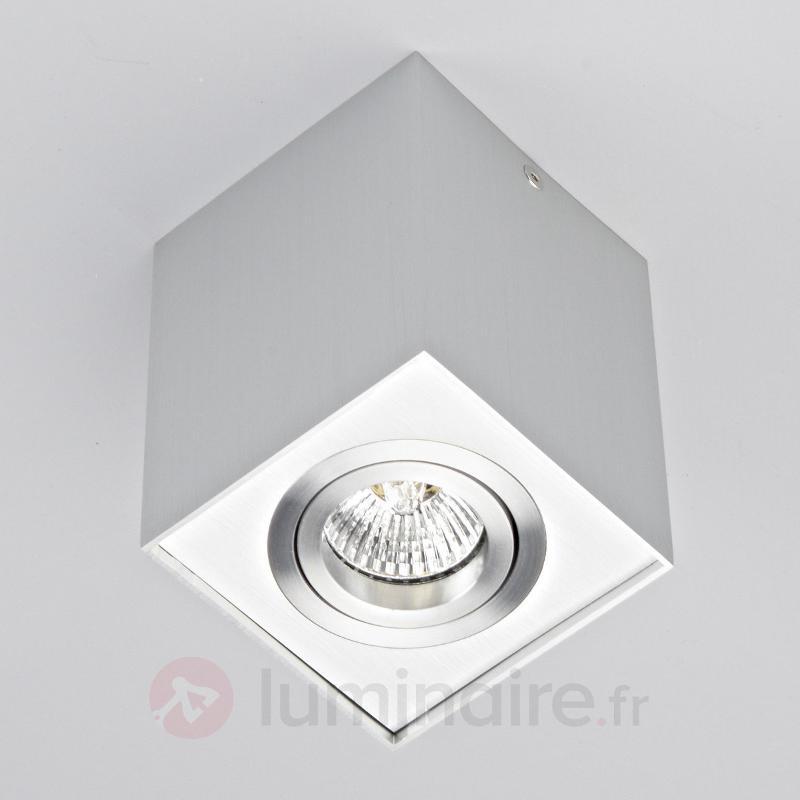 Projecteur de plafond en alu Mikail, rectangulaire - Tous les plafonniers