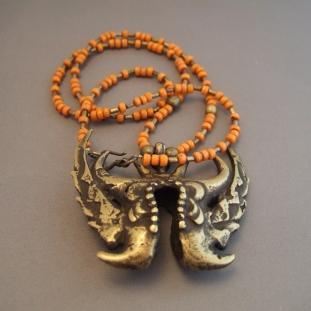 Colliers - Laiton, perles de céramique,Sulawesi