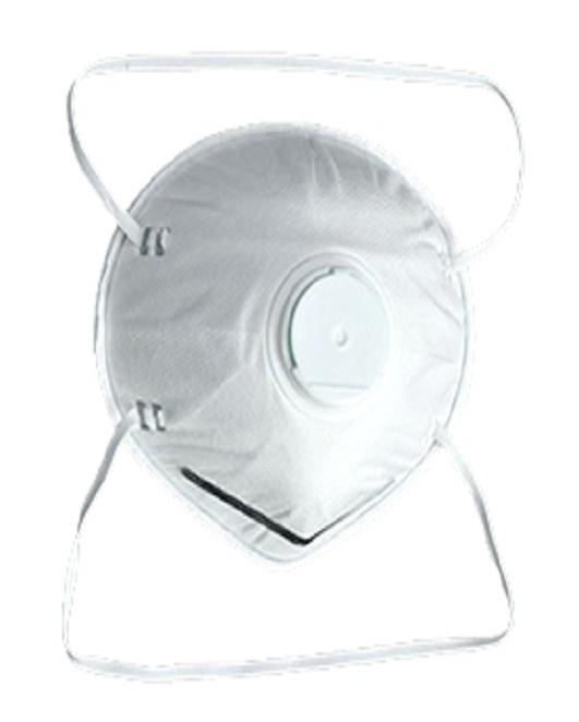 Dust mask wth valve - Style:Head loop   Material: Melt-blown,Filer paper