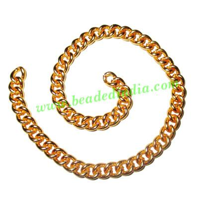Gold Plated Metal Chain, size: 1.5x7mm, approx 10.9 meters i - Gold Plated Metal Chain, size: 1.5x7mm, approx 10.9 meters in a Kg.