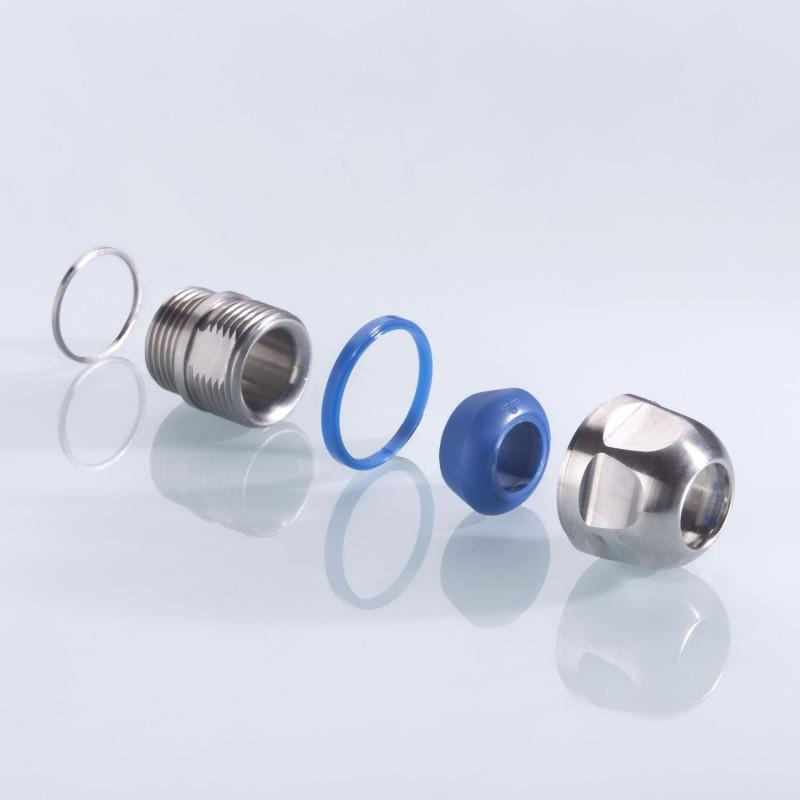Kabelverschraubung blueglobe CLEAN Plus – EHEDG Zertifikat - Kabelverschraubung blueglobe CLEAN Plus – EHEDG Zertifikat