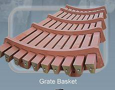 Grate baskets - Wear resistant equipment