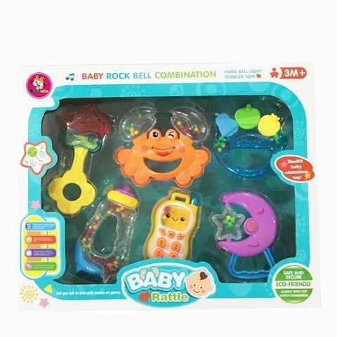 Rattles & Plush Rings  - Fun Time Baby's Rattles & Teethers Nursery Gift Set