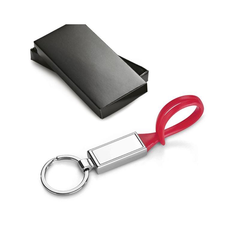 Porte-clés métal et PVC - Porte-clés métal