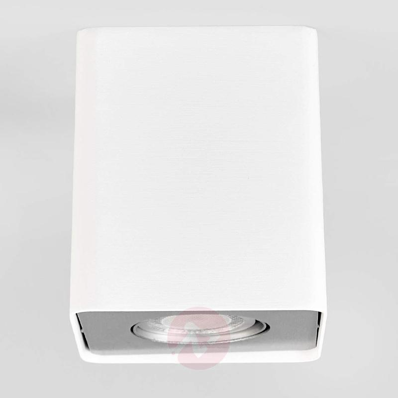 Square Giliano GU10 LED downlight in white - Ceiling Lights