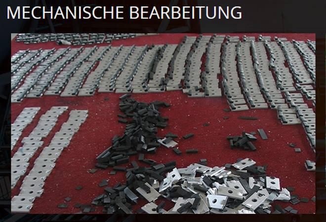 Mechanische Bearbeitung  - Post-extrusionaktivitäten aktivitäten die mit Stahl, Inox oder Plastik