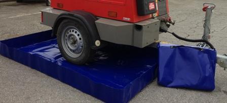 Bac de rétention souple pliable - 560 litres - bac pliable - Bacs de rétention souples