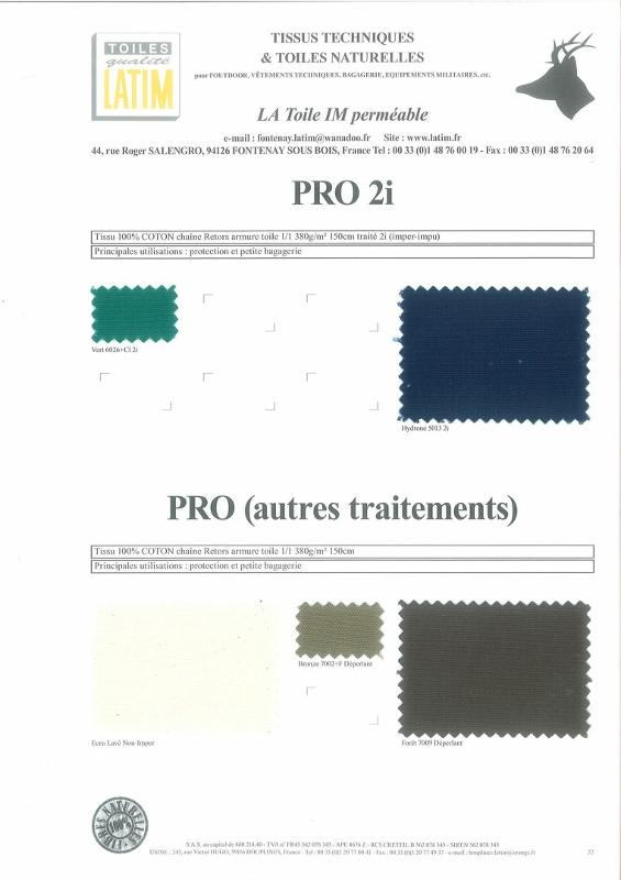 PRO 2i & PRO (autres traitements) - Toiles naturelles