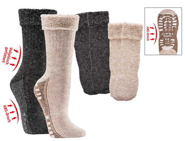 6522 - Fluffy Home Socks with Alpaca and Anti-Slip - beautiful alpaca-fluffy quality