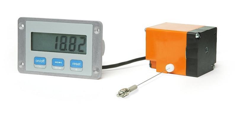 测量显示器 MA508SG - 测量显示器 MA508SG, 无线的 LCD 显示器带拉绳编码器