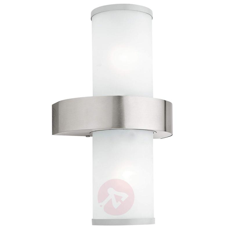 Beverly Outside Wall Light in a Current Design - stainless-steel-outdoor-wall-lights