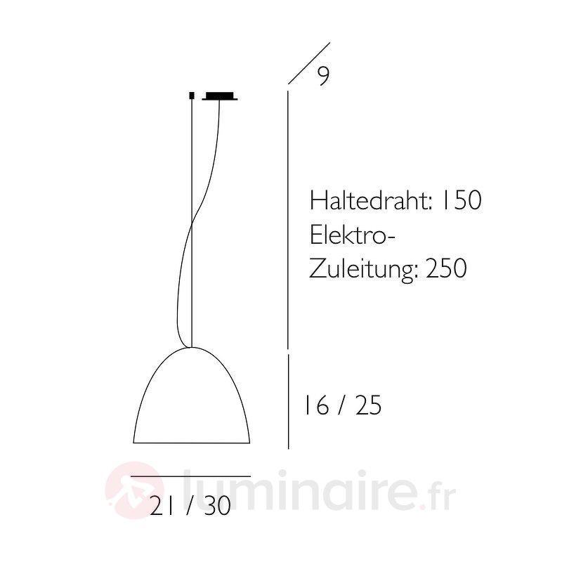 Bell - suspension 1 lampe sablée - Cuisine et salle à manger