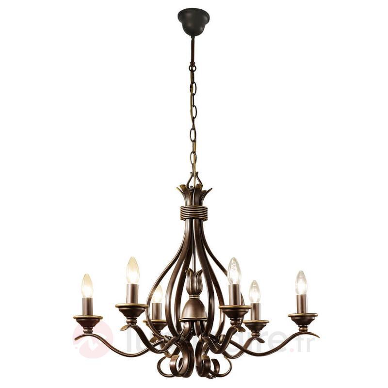 Lustre à 6 lampes Buckingham - Lustres classiques,antiques