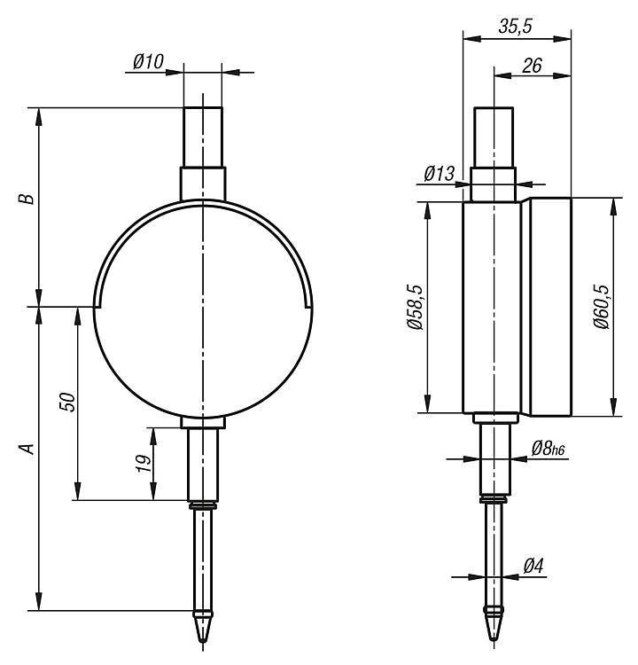 Comparateur numérique - Appareils de contrôle de concentricité Dispositifs de mesure universels...