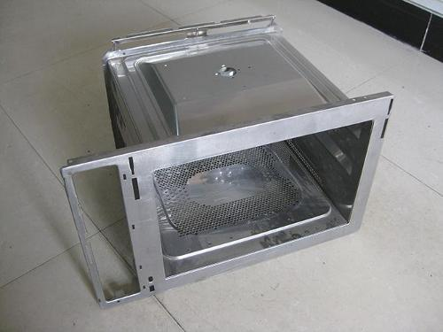 Microwave oven front panel mold - Microwave oven front panel