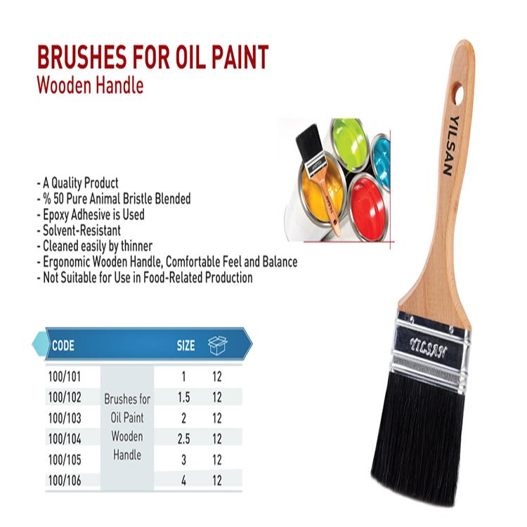 Brushes for oil paint wooden handle - Brushes for oil paint wooden handle