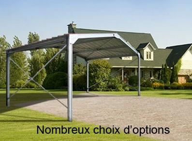 Abri metallique double pente - null