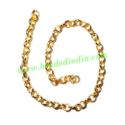 Gold Plated Metal Chain, size: 1x3mm, approx 45.2 meters in  - Gold Plated Metal Chain, size: 1x3mm, approx 45.2 meters in a Kg.