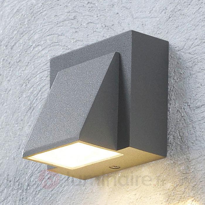 Applique LED d'extérieur Marik gris argenté - Appliques d'extérieur LED