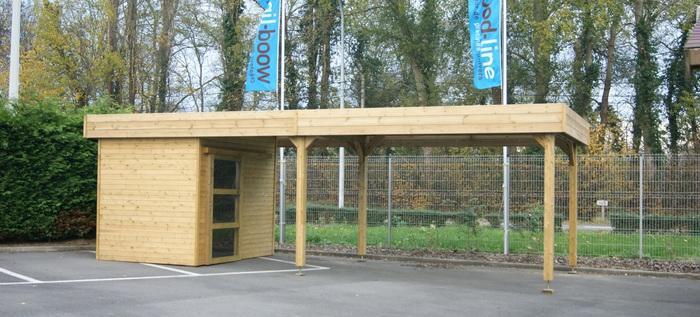Abri fabricant producteur entreprises - Carport avec abri de jardin integre ...