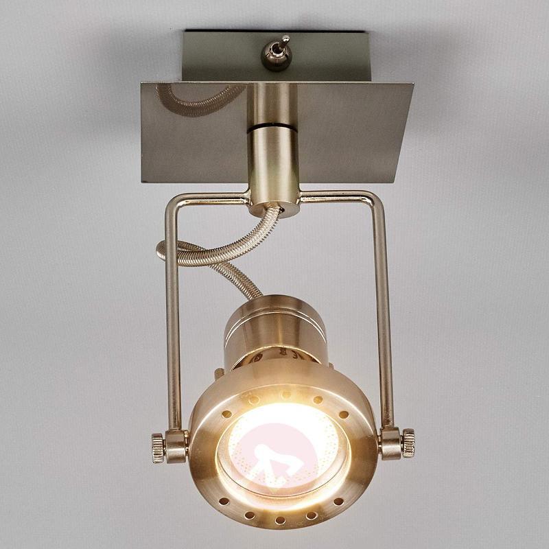Agidio LED spotlight, satin nickel - Ceiling Lights
