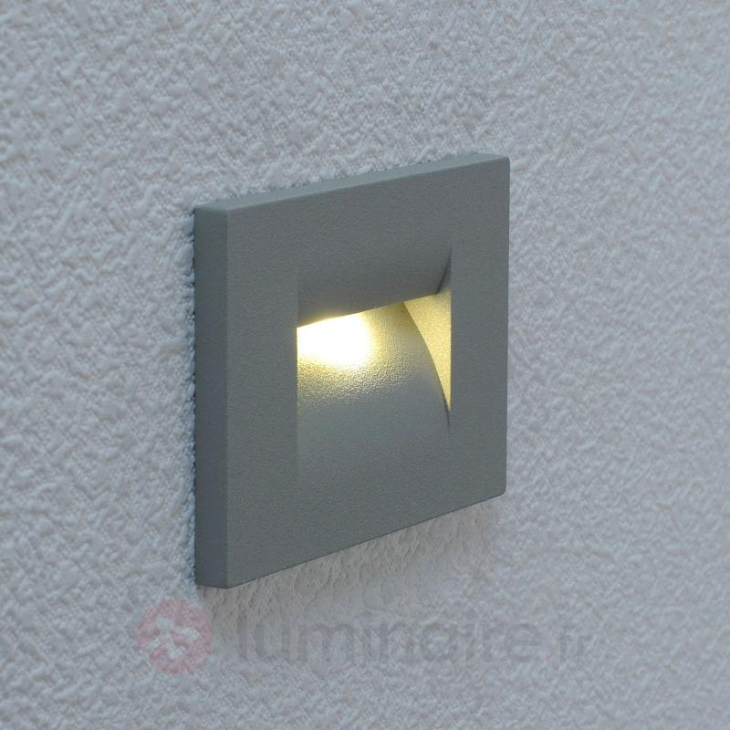 Applique encastrée LED Nevrin gris argenté - Appliques d'extérieur encastrées