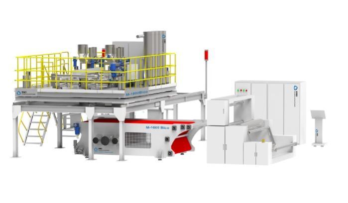 Zweikomponenten Meltblown Nonwoven Technologie & Meltblown N - KMD stellt Zweikomponenten Meltblown-Fertigungsanlagen mit einer Breite von 1,0m
