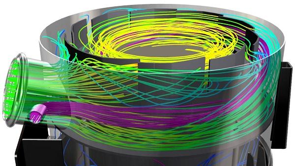 CFD Analysis - With our CFD tools, we simulate flow paths, pressure drop, convection etc.