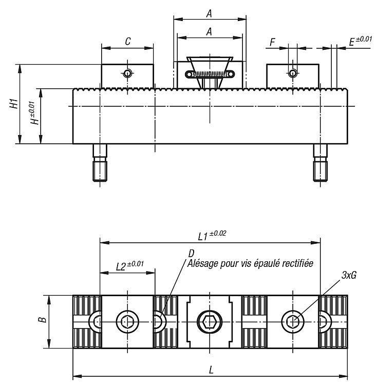 Système de serrage multiple, butées et mors doux - Système de bridage multiple