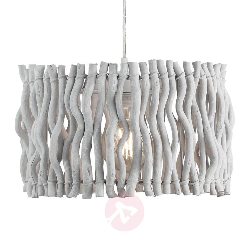 White wooden pendant lamp Driftwood Beach - indoor-lighting