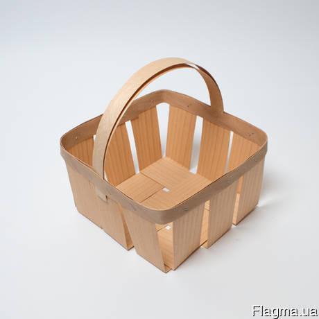 Корзинки из шпона, упаковка натуральная - лотки разных форм и размеров