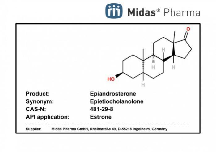 Epiandrosteron - Epiandrosteron; Epietiocholanolon; CAS 481-29-8; Builduing block für Estron