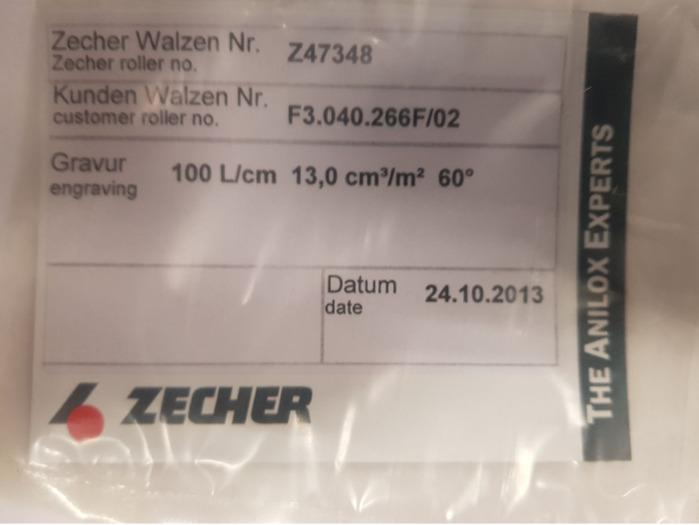 Zecher anilox roller XL 105 - Used Machine