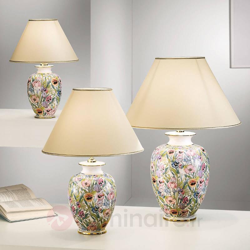 Lampe à poser florale GIARDINO PANSE - Lampes à poser en tissu