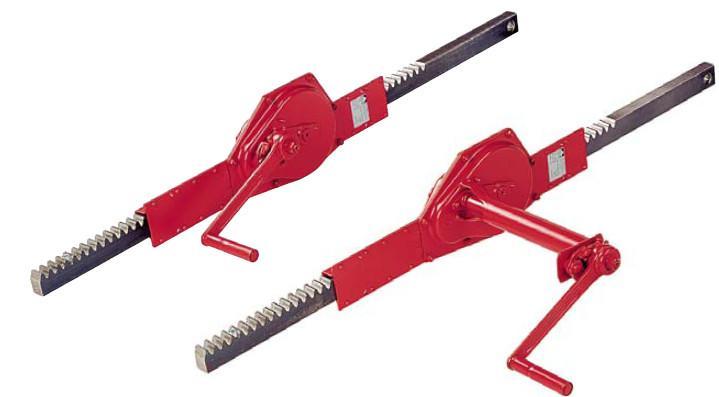 Argani a cremagliera - 1600 Serie - per sollevare, abbassare, regolare, fissare fino a 0,5 t -10 t