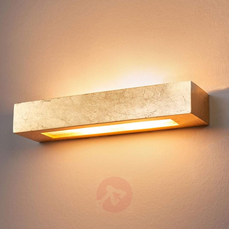 Angular plaster wall light Emina in gold - indoor-lighting