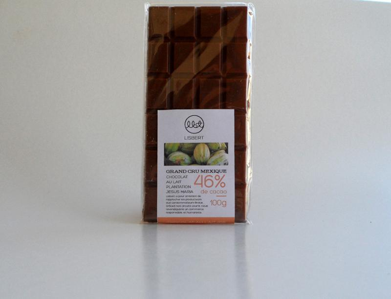 Chocolat au lait 46 % cacao pure origine Mexique - Épicerie sucrée