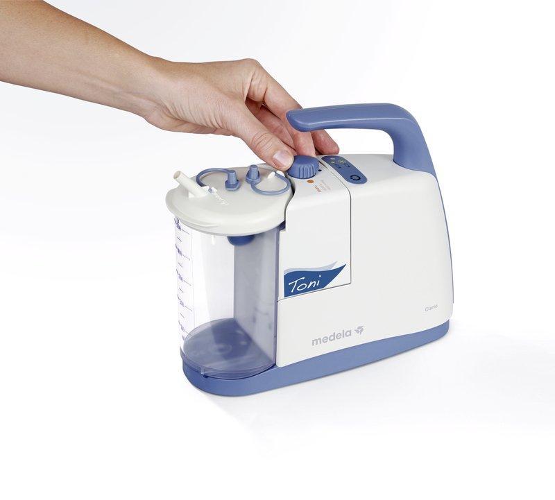Aspirateur pour voies respiratoires pédiatrie Clario Toni - L'utilisateur peut emporter le Clario Toni partout où il va.