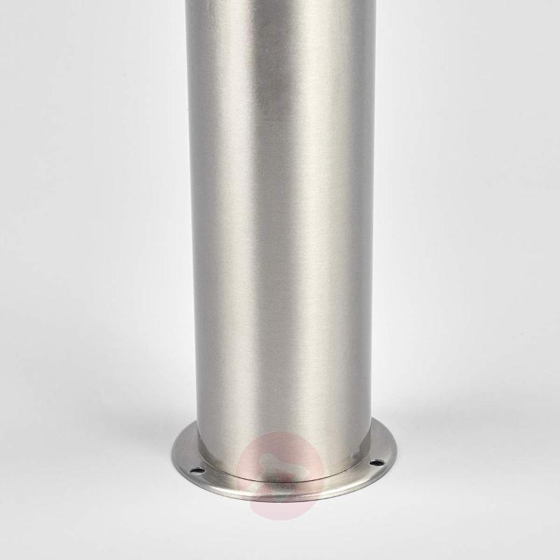 Cylindrical LED path light Belina, stainless steel - Path and Bollard Lights