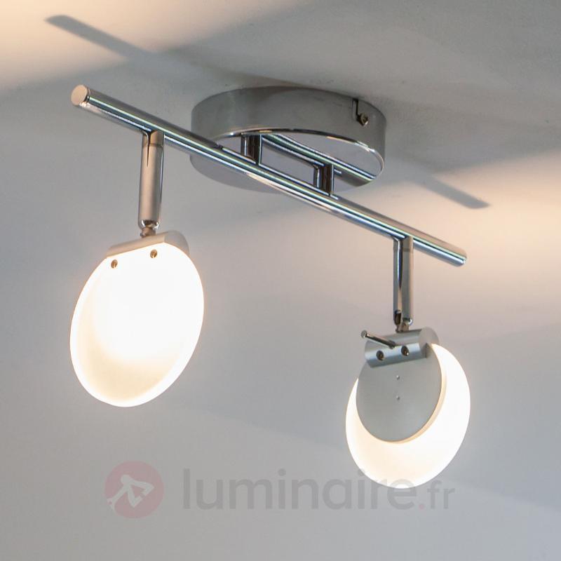Spot LED à 2 lampes Sena pour mur ou plafond - Plafonniers LED