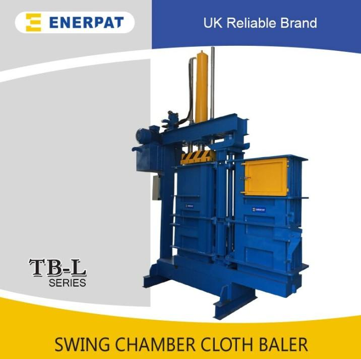 Swing chamber clothing baler compactor machine with CE