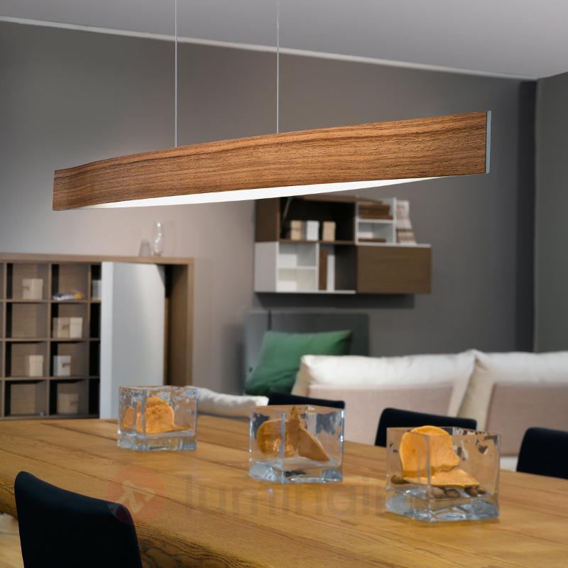 Teinte de bois de noyer - la suspension LED Fornes - Suspensions en bois
