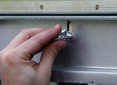 Abri de jardin en métal brut - null